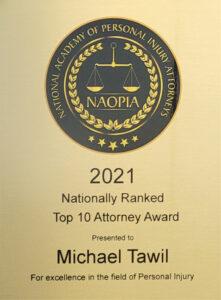 NAOPIA Top 10 Attorney Award 2021